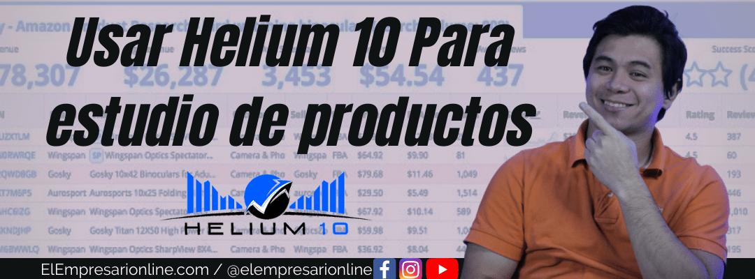 Como usar Helium 10 tutorial español